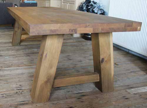 Robuuste Eiken Tafel : Eiken tafel op maat bart i robuuste tafels op maat gemaakt u e gendt nl