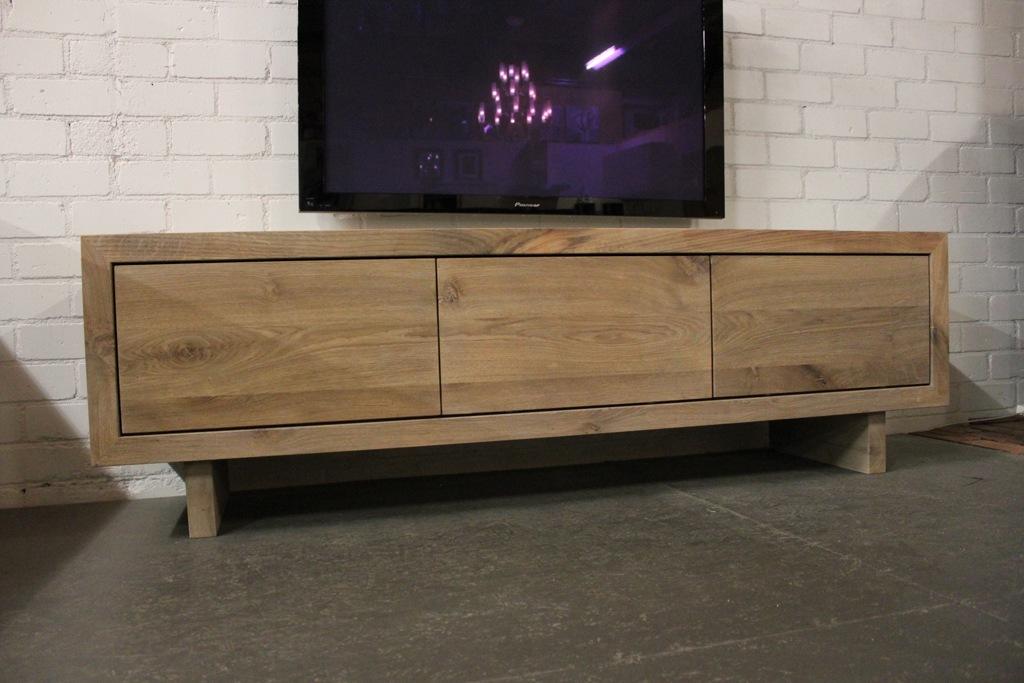Rustiek Eiken Kast : Eikenhouten tv meubel joost dé tv meubel maatwerkspecialist gendt