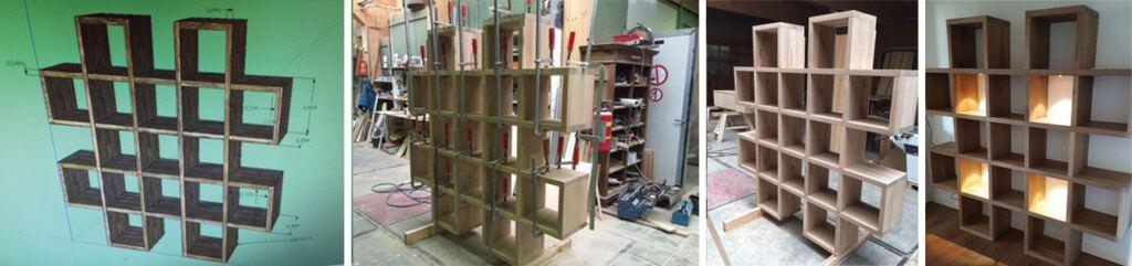 Deze maatwerk vakkenkast is gemaakt in de meubelmakerij van Sessink wonen te Gendt. Kom inspiratie opdoen in onze Woonwinkel.