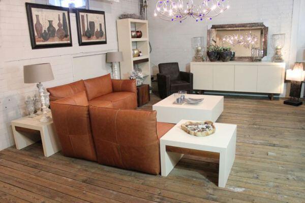 MDF salontafel biedt veel opbergruimte door twee ruime lades. Op maat gemaakt, ook leverbaar in andere kleuren.