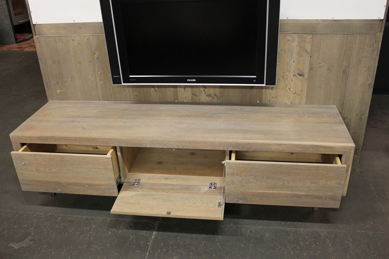 Tv Meubel Eiken Look.Eiken Tv Meubel Jose Rvs Dit Tv Meubel Bhd 180x45x45cm