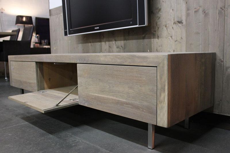 Eiken tv meubel jose rvs pootjes jouw tv meubel op maat!!!