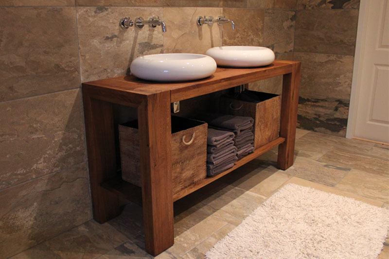 badkamermeubel eiken op maat, eigen ontwerp Marjolein