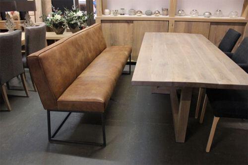 Eettafel bank Lara van leverancier het Anker. Diverse afmetingen en kleuren mogelijk. Een nieuwe bank? Kom inspiratie opdoen in onze Woonwinkel te Gendt, tussen Arnhem en Nijmegen.