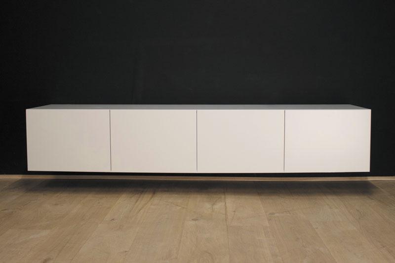 Tv Kast Hangend : Tv wandboard hangend werktekening meubel zelf maken in hout of mdf