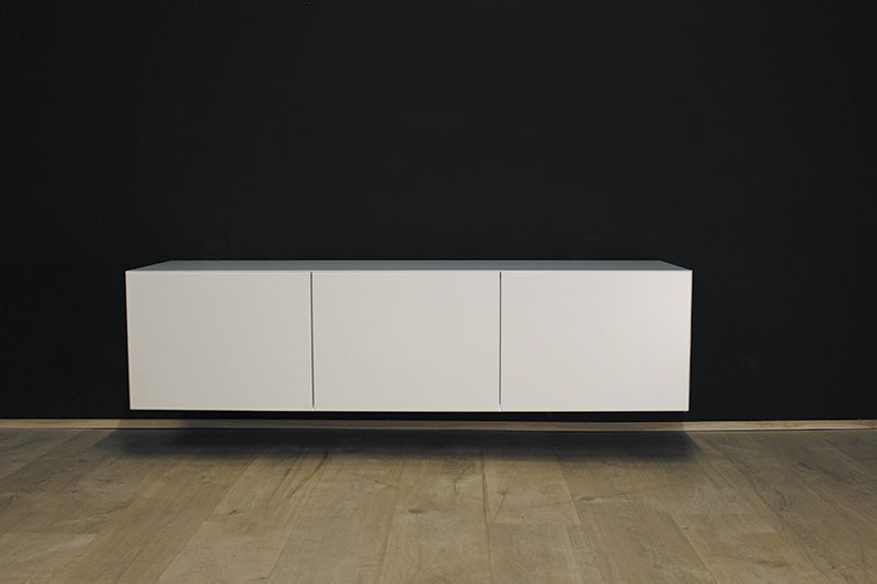 Tv Wandmeubel Wit.Hangend Tv Meubel Mdf Verstek 160 Showmodel Bhd 160x40x45cm