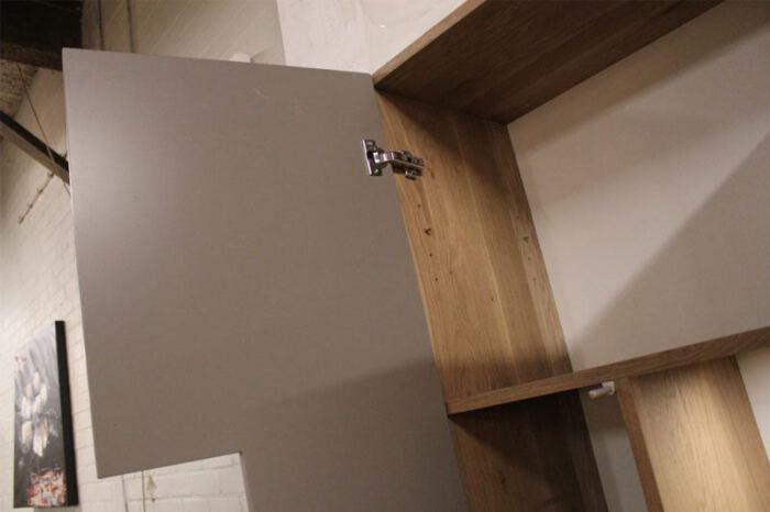 Eiken en MDF TV wandmeubel. Op zoek naar een TV wandmeubel op maat? Wij maken UW WANDMEUBEL OP MAAT > Bezoek onze WOONWINKEL & MEUBELMAKERIJ > GENDT NL Nijmegen > Arnhem