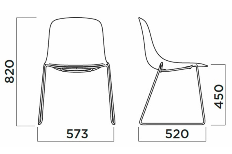 Stoel Pure Loop Mono Sled is van het Italiaanse merk Infiniti en ontworpen door de bekende Deense ontwerper Claus Breinholt. Diverse stoelpoten en kleuren mogelijk. Nieuwe eetkamerstoelen of projectstoelen? Kom inspiratie opdoen in onze Woonwinkel te Gendt, tussen Arnhem en Nijmegen.